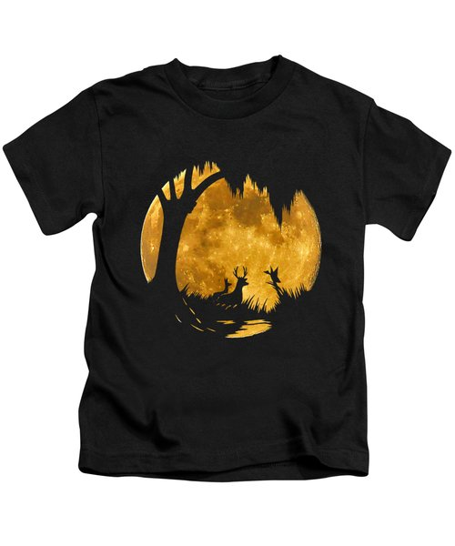 Wetland Wildlife Massive Moon .png Kids T-Shirt