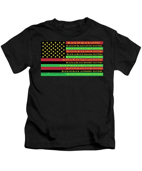 What About Black On Black Living? Kids T-Shirt
