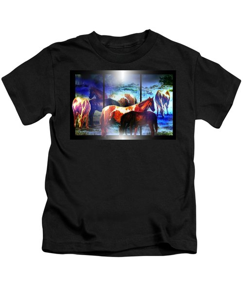What  Horses Dream Kids T-Shirt