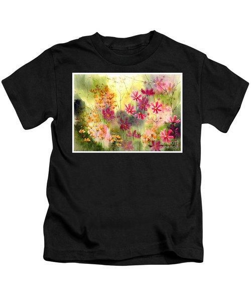 Where The Pink Flowers Grow Kids T-Shirt
