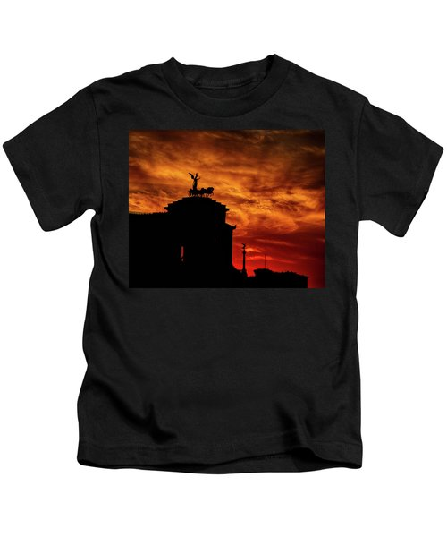 While Rome Burns Kids T-Shirt