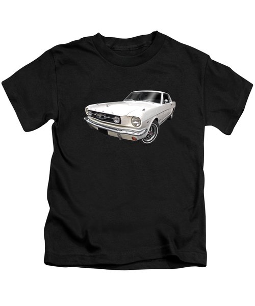 White 1966 Mustang Kids T-Shirt