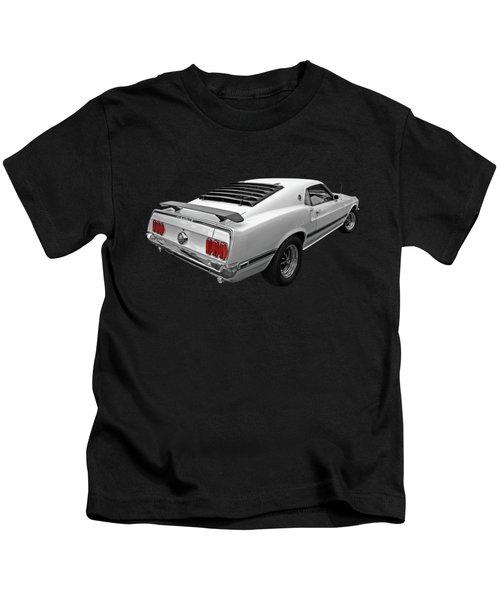 White '69 Mach 1 Kids T-Shirt