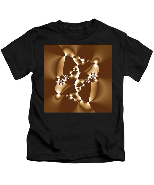 White And Milk Chocolate Fractal Kids T-Shirt