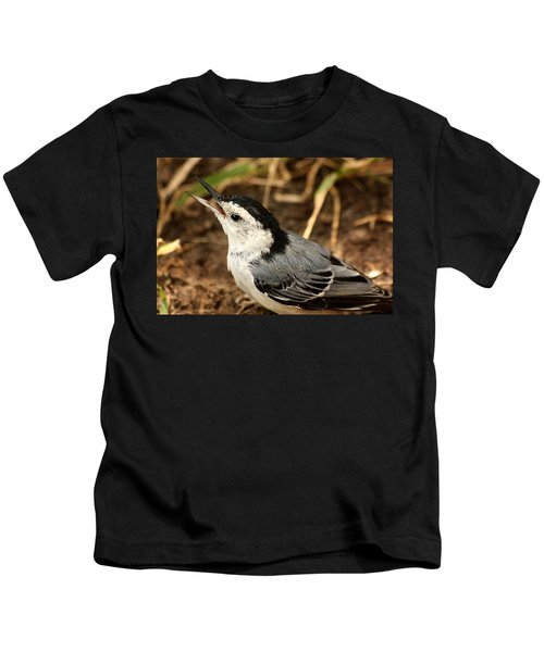 White Breasted Nuthatch 2 Kids T-Shirt