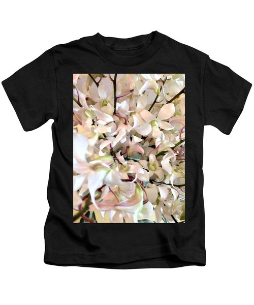 White Orchid Cluster Kids T-Shirt