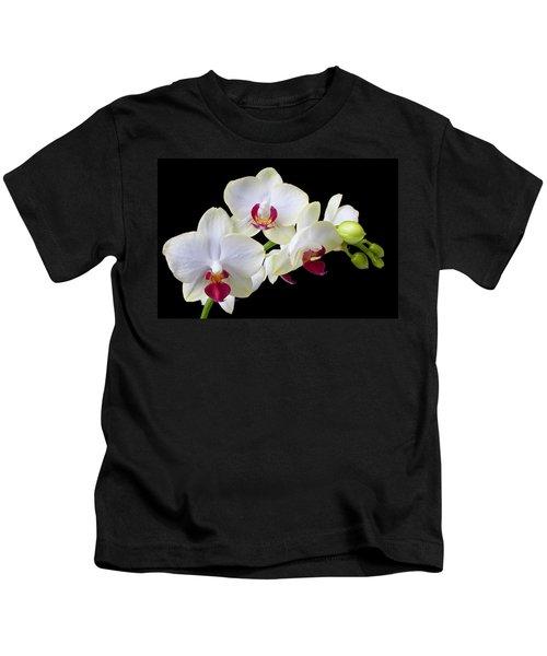 White Orchids Kids T-Shirt