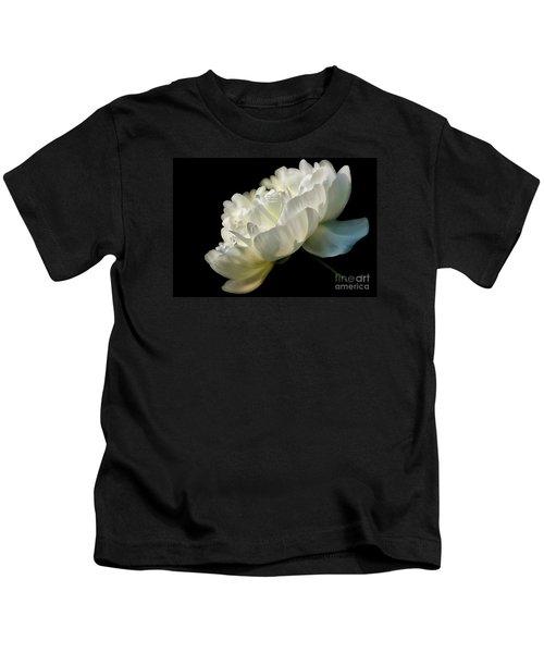 White Peony In The Light Kids T-Shirt
