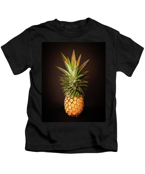 White Pineapple King Kids T-Shirt
