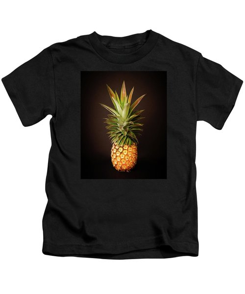 White Pineapple King Kids T-Shirt
