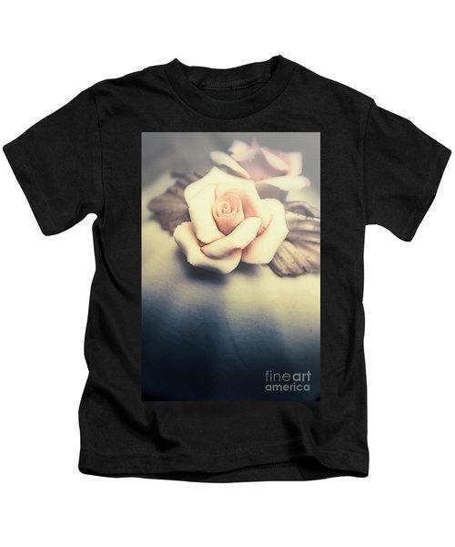 White Porcelain Rose Kids T-Shirt