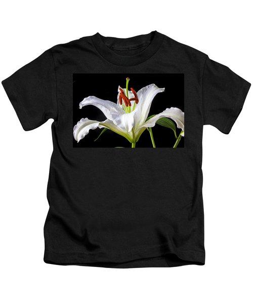 White Tiger Lily Still Life Kids T-Shirt