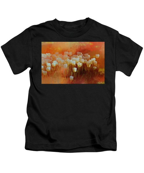 White Tulips Kids T-Shirt
