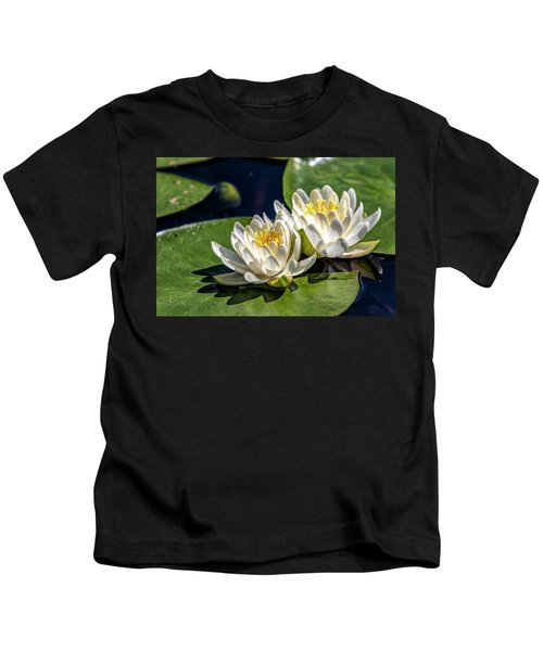 White Water Lilies Kids T-Shirt