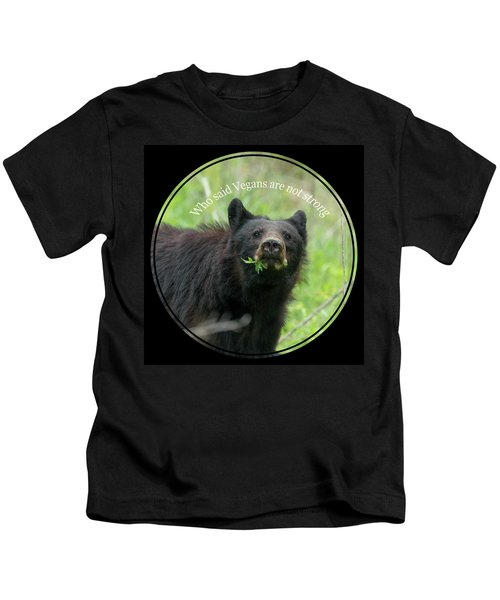 Who Said Vegans Are Not Strong Kids T-Shirt