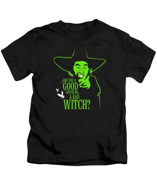 Wicked Witch Of West Kids T-Shirt by Mos Graphix