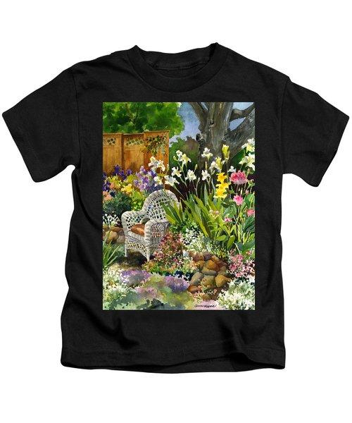 Wicker Chair Kids T-Shirt