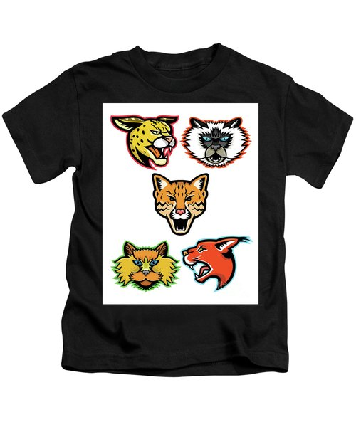 Wild And Domestic Cats Collection Series Kids T-Shirt