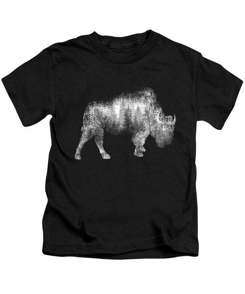 Wild Bison Kids T-Shirt by Diana Van