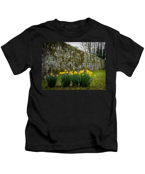 Kids T-Shirt featuring the photograph Wild Daffodils At Coole Park by James Truett