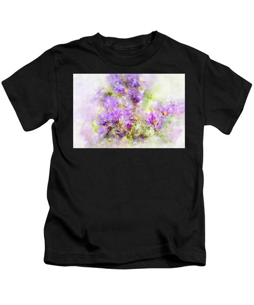 Wild Flowers In The Fall Watercolor Kids T-Shirt