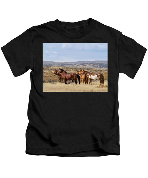 Wild Mustang Family Band In Sand Wash Basin Kids T-Shirt