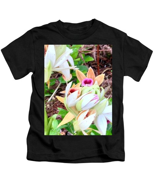 Wild Orchids In Pastel Kids T-Shirt