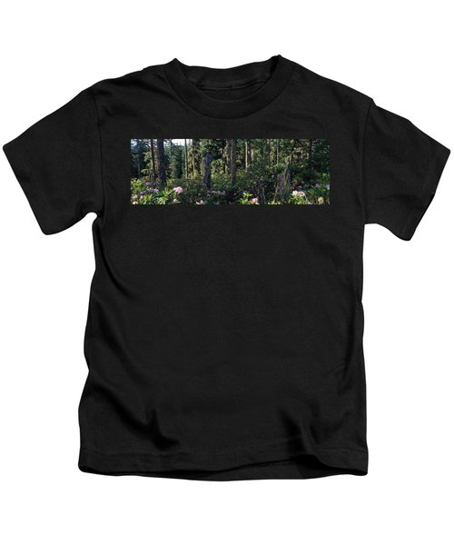 Wild Rhododendrons Mount Hood National Kids T-Shirt
