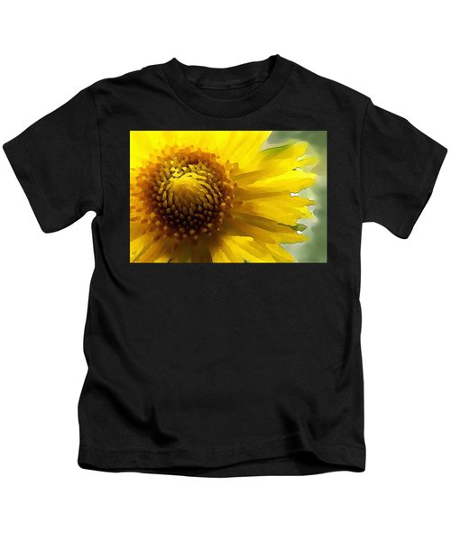 Wild Sunflower Up Close Kids T-Shirt