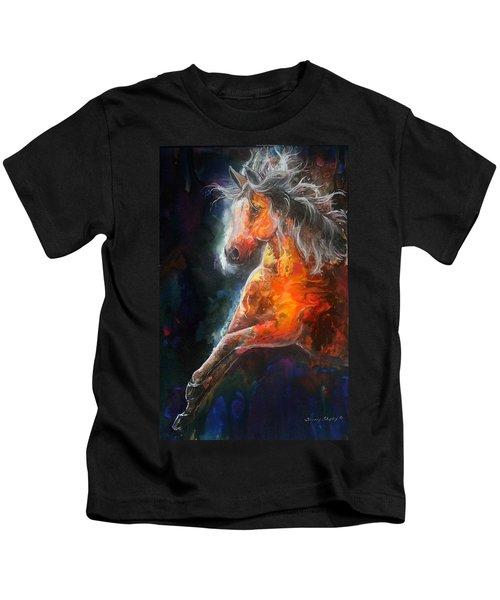 Wildfire Fire Horse Kids T-Shirt