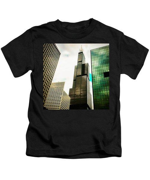 Willis Tower Chicago Kids T-Shirt