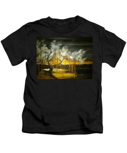Willow On The Shore Kids T-Shirt