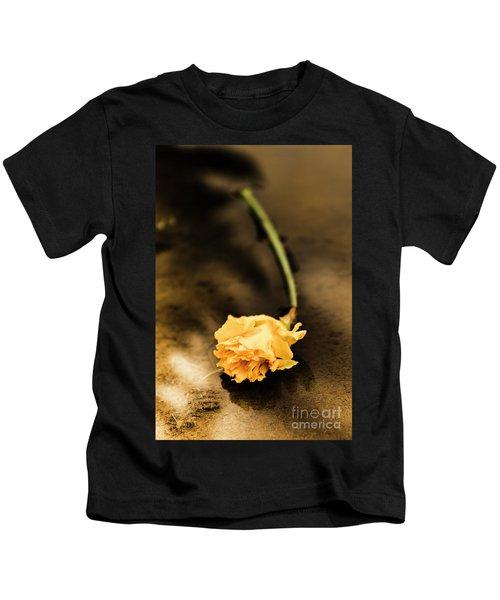 Wilting Puddle Flower Kids T-Shirt