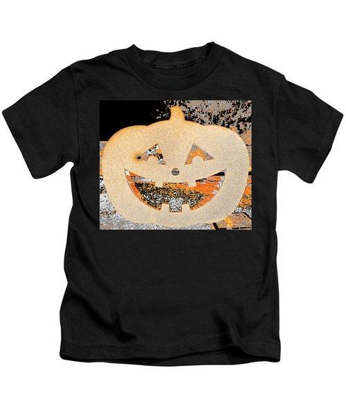 Window Pumpkin #3 Kids T-Shirt