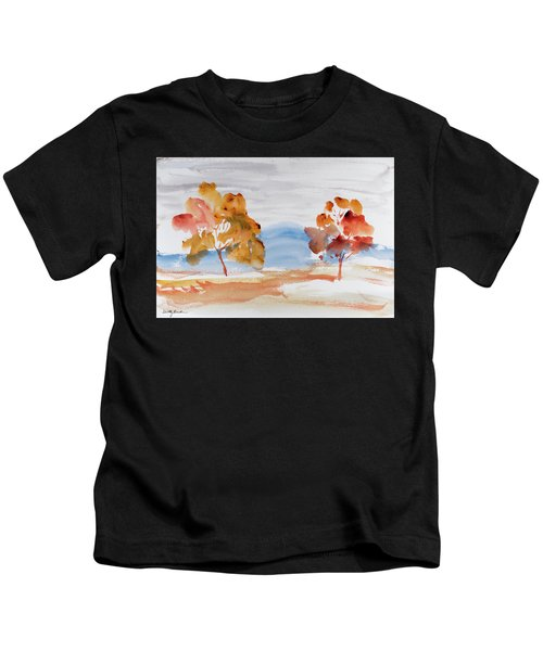Windy Autumn Colours  Kids T-Shirt