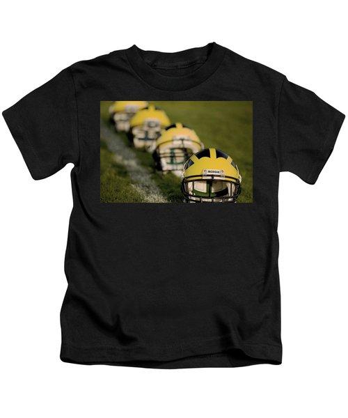 Winged Helmets On Yard Line Kids T-Shirt
