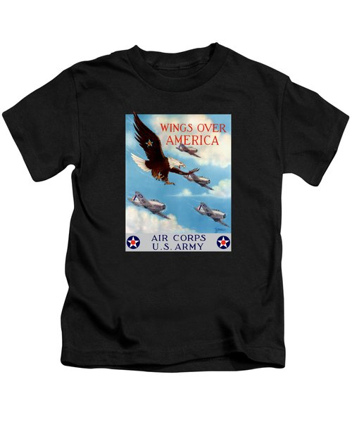 Wings Over America - Air Corps U.s. Army Kids T-Shirt