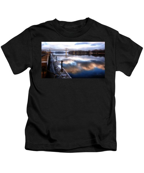 Winter At The Levee Kids T-Shirt