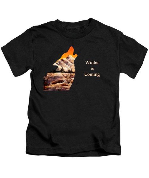 Winter Is Coming Kids T-Shirt