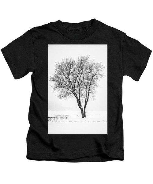 Winter Solitude Kids T-Shirt