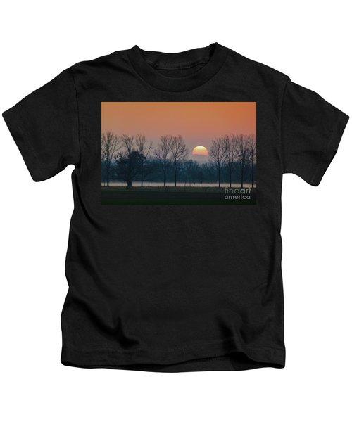 Winter Sunset 1 Kids T-Shirt