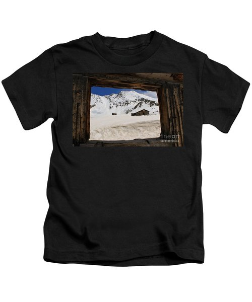 Winter Window View Kids T-Shirt