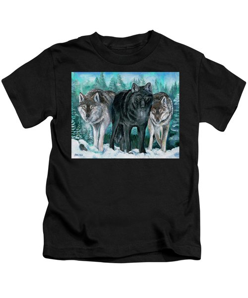 Winter Wolves Kids T-Shirt
