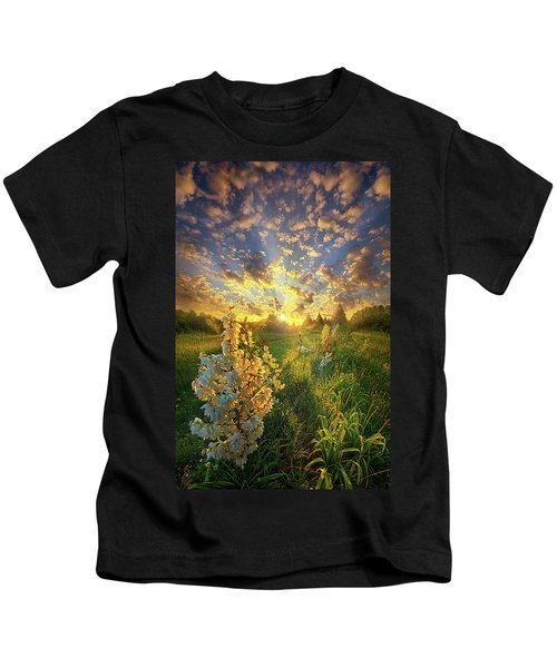 With An Angel By My Side Kids T-Shirt
