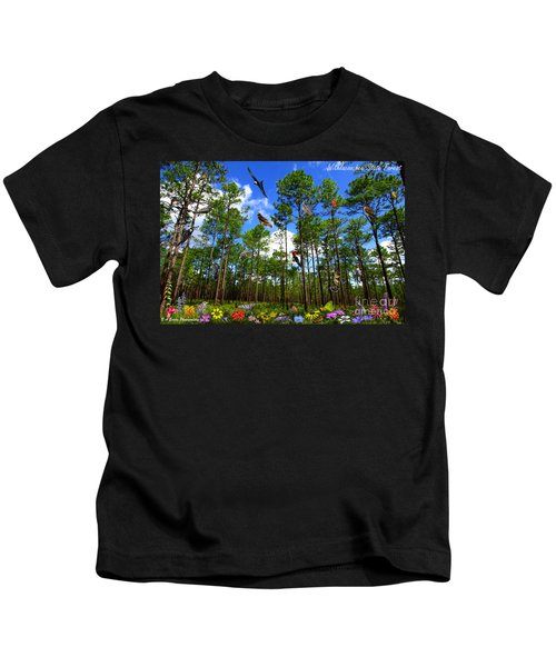 Withlacoochee State Forest Nature Collage Kids T-Shirt