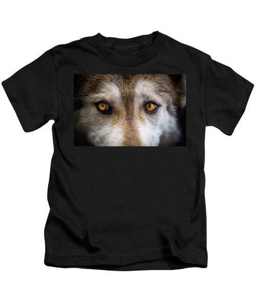 Wolf Eyes Kids T-Shirt