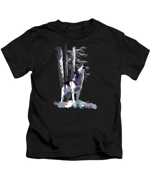 Wolf  Howling Memory Kids T-Shirt