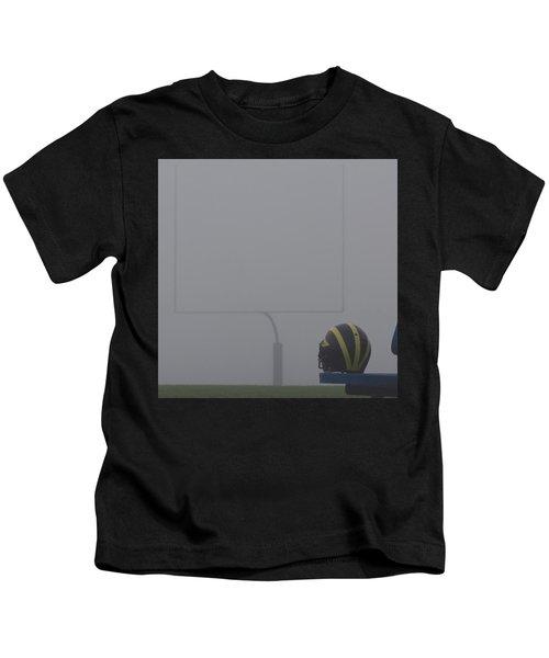 Wolverine Helmet In Heavy Morning Fog Kids T-Shirt