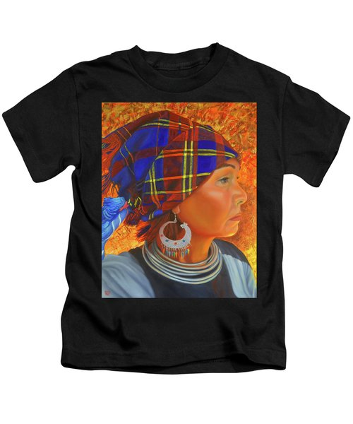 Woman In The Shadow Kids T-Shirt