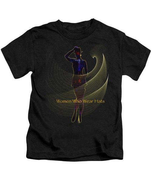 Women Who Wear Hats 5 Kids T-Shirt